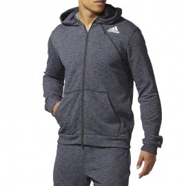 Sweat à Capuche CROSS UP Basketball Gris Homme Adidas