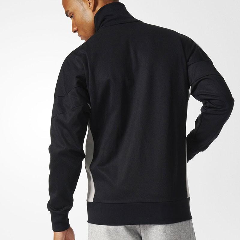 veste clr84 tracktop noir homme adidas vestes. Black Bedroom Furniture Sets. Home Design Ideas