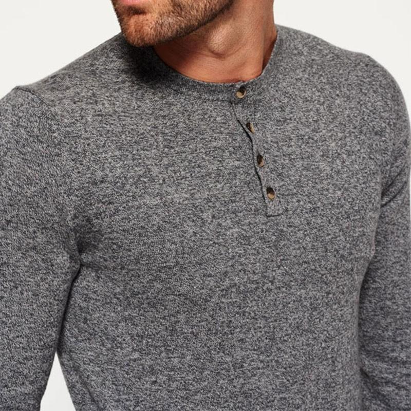 pull orange label knit gris homme superdry pulls. Black Bedroom Furniture Sets. Home Design Ideas
