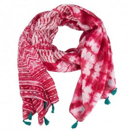 Foulard rectangle Splash Rouge Femme Desigual