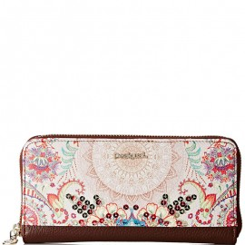 Portefeuille Around Capri Marron Femme Desigual