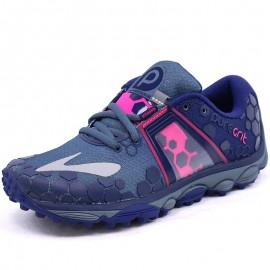 Chaussures Puregrit 4 Bleu Running Femme Brooks