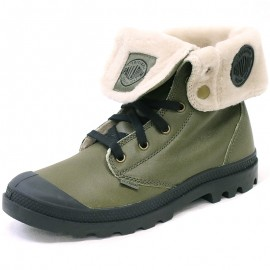 Chaussures Baggy Leather Vert Homme Palladium