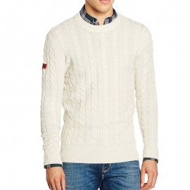 Pull Harrow Cable crew Ecru Homme Superdry