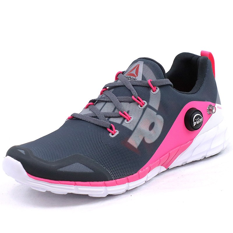 chaussures zpump fusion gris running femme reebok chaussures de r. Black Bedroom Furniture Sets. Home Design Ideas
