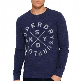 Tee Shirt Surplus Goods bleu Homme Superdry