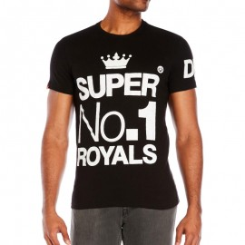 Tee Shirt Wings and Kings Noir Homme Superdry