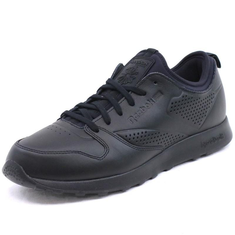 bda2da35a384c Chaussures Classic Leather Lite Noir Homme Reebok - Baskets