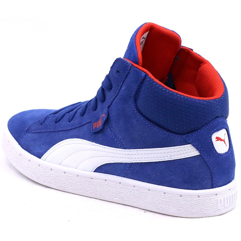 Chaussures 1948 Montante Bleu Garcon Puma Baskets
