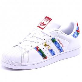 Chaussures Superstar Blanc Femme Adidas