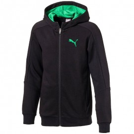 Sweat zippé HOODED SWEAT Noir Garçon Puma