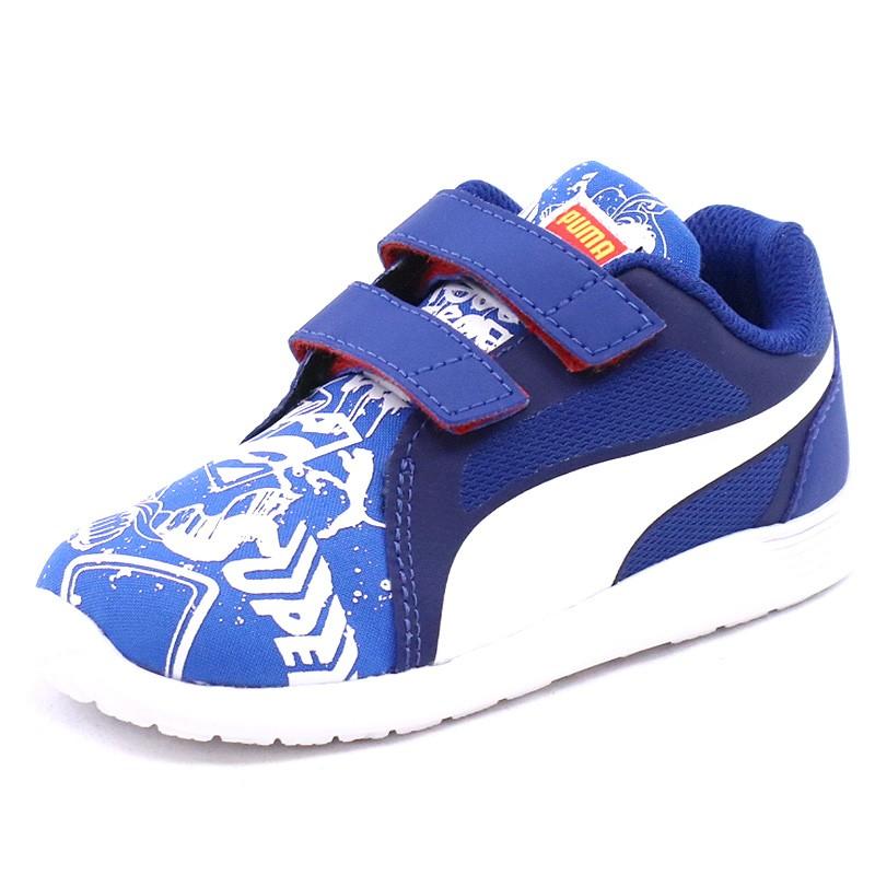 Garçon Superman Bleu Trainer Puma Chaussures Street St Evo D Bébé Ajq54RL3