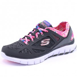 Chaussures Flex Tropical Gris Femme Skechers