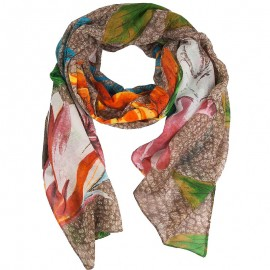 Foulard rectangle Mogli Marron Femme Desigual
