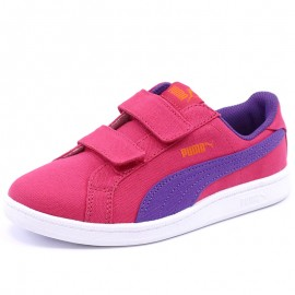 Chaussures Smash Fun CV V Rose Fille Puma