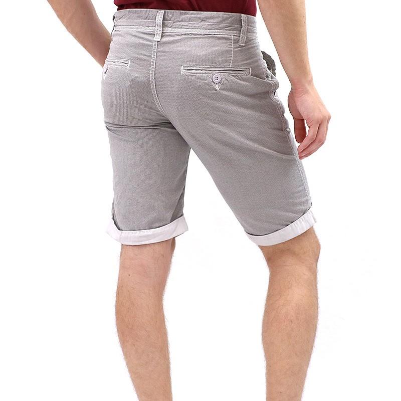 bermuda chino brassar gris homme kapsule shorts. Black Bedroom Furniture Sets. Home Design Ideas
