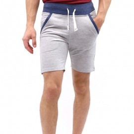 Short TERRY Gris Homme Waxx