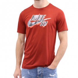 Tee-shirt Dryfit BIG LOGO Rouge Garçon Nike