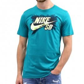 Tee-shirt Dryfit HALFTONE Vert Garçon Nike