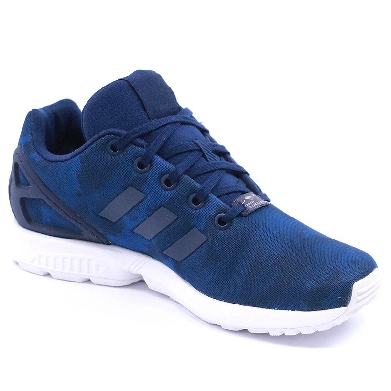 chaussures zx flux bleu gar on adidas baskets. Black Bedroom Furniture Sets. Home Design Ideas