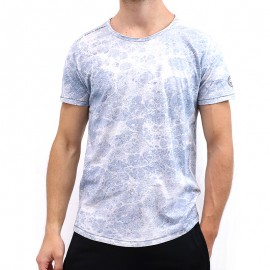 Tee shirt T-RIVAL Bleu Homme Teddy Smith