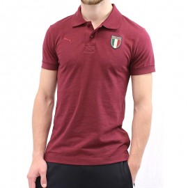 Polo Italia Azzuri Bordeaux Football Homme Puma
