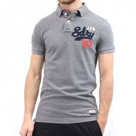 Polo Gris Homme Superdry