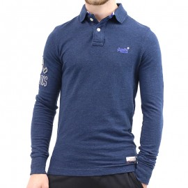 Polo Classic Pique Marine Homme Superdry