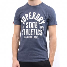 Tee Shirt Trackster Marine Homme Superdry