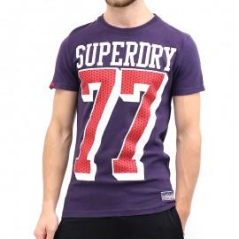 Tee Shirt Supersized 77 Violet Homme Superdry