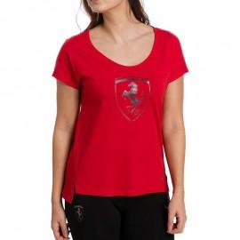 Tee shirt Ferrari Big Shield Rouge Femme Puma
