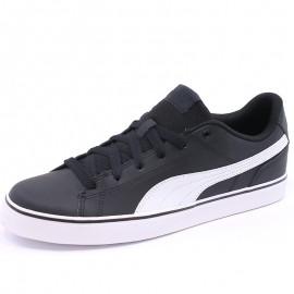 Chaussures Court Point Vulcanisé V2 Noir Homme Puma