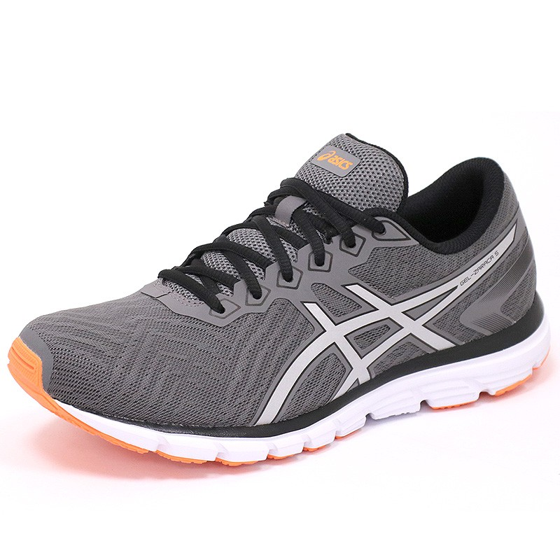 chaussures gel zaraca 5 gris running homme asics chaussures de ru. Black Bedroom Furniture Sets. Home Design Ideas