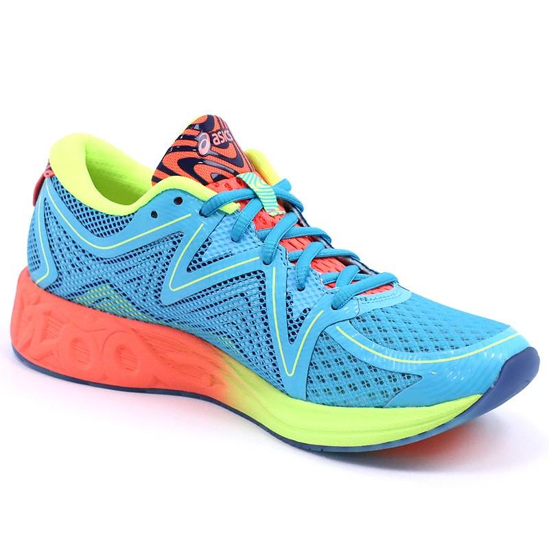 chaussures noosa ff bleu running femme asics chaussures de running. Black Bedroom Furniture Sets. Home Design Ideas
