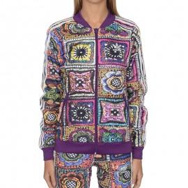 Veste Crochita Superstar Violet Femme Adidas