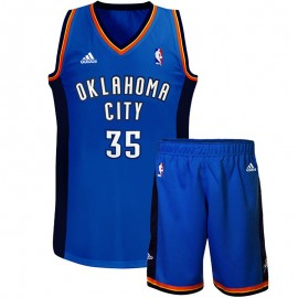 Ensemble Maillot/Short K. Durand Oklahoma city Bleu Basketball Garçon Adidas