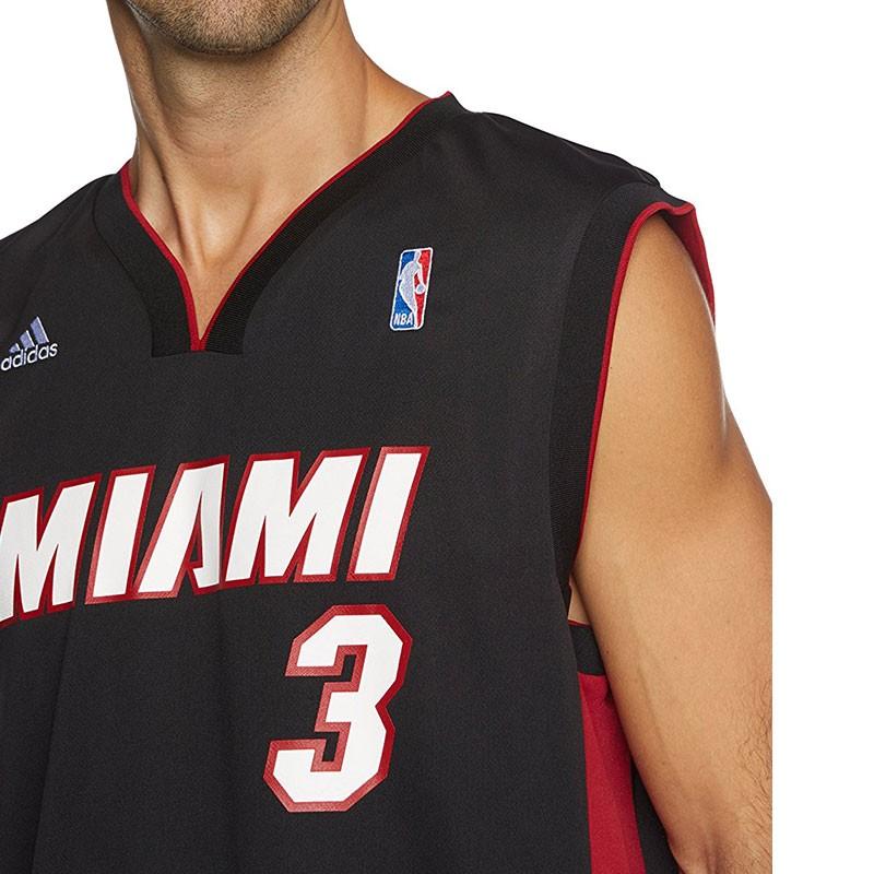 Maillot de basket Adidas Vintage Noir Rouge Heat