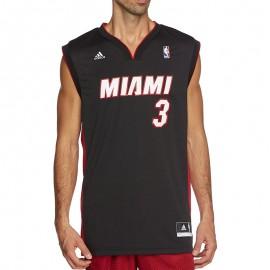 Maillot Replica D. Wade Miami Heat Noir Homme Basketball Adidas