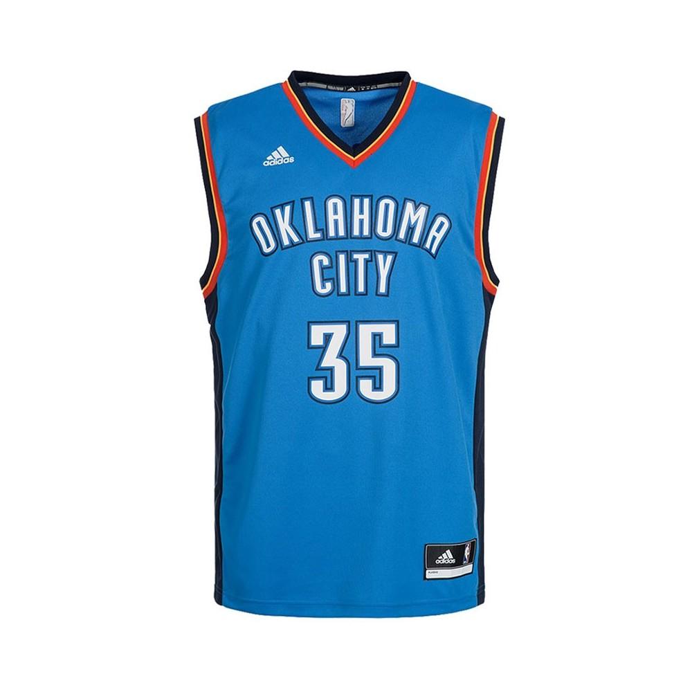 Détails sur Maillot Replica K. Durant Oklahoma City Thunder Bleu Homme Basketball Adidas Ble