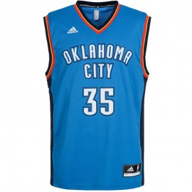 Maillot Replica K. Durant Oklahoma City Thunder Bleu Homme Basketball Adidas