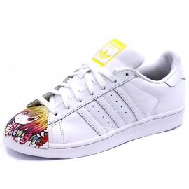 Chaussures Superstar Pharrell Williams Blanc Homme/Femme Adidas