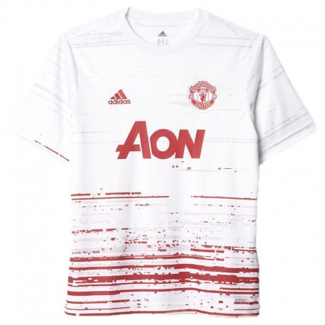 maillot entrainement manchester united blanc football gar on adidas. Black Bedroom Furniture Sets. Home Design Ideas