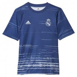 Maillot Entrainement Real Madrid Bleu Football Garçon Adidas
