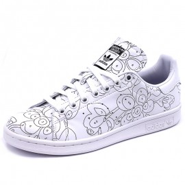 Chaussures Stan Smith RO Blanc Femme Adidas