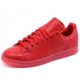 Chaussures Stan Smith Rouge Homme/Femme Adidas