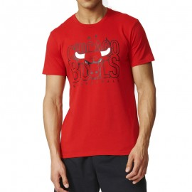 Tee shirt Chicago Bulls Basketball Rouge Homme Adidas