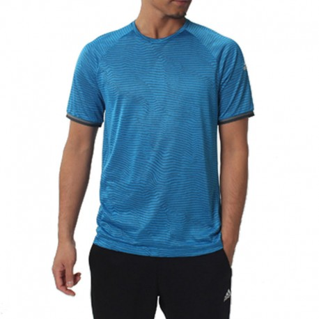 Tee shirt Football Micro perforé Bleu Homme Adidas
