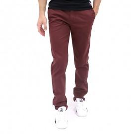 Pantalon Chino COMBINE Bordeaux Homme Crossby