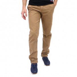 Pantalon Chino COMBINE Camel Homme Crossby