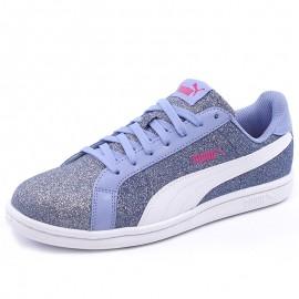 Chaussures Smash Glitz Glamm Gris Fille Puma